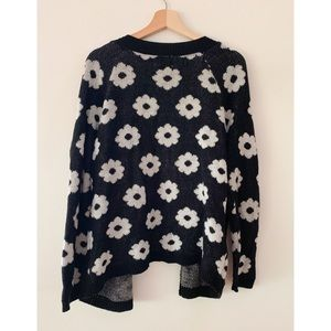 PacSun Sweaters - Black and White Daisy Print Cardigan